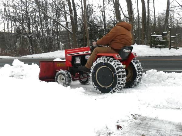 1) Case 446 Tractor SnowPlowing