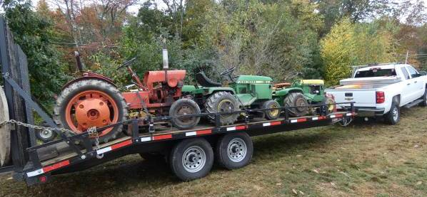 Photo of  Trailer Loaded With Garden Tractor
