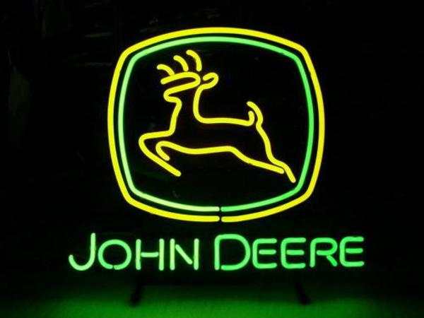 1) John Deere Neon Sign
