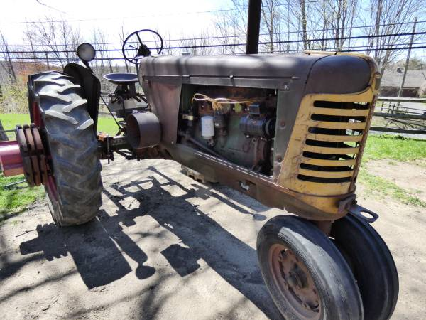 b) Oliver 77 Row Crop Tractor