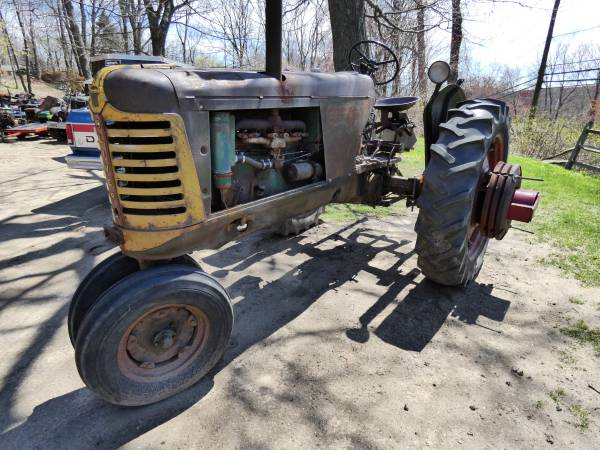 c) Oliver 77 Row Crop Tractor