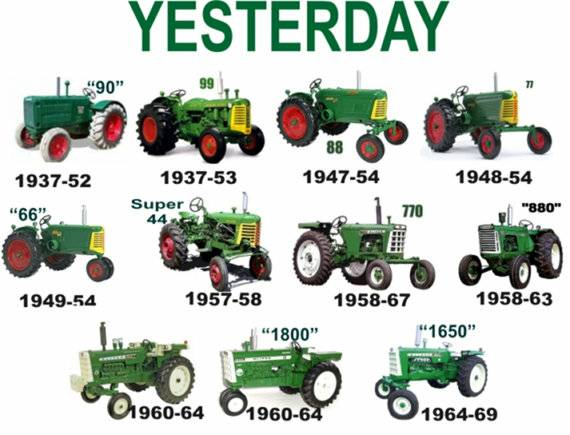 Photo of Oliver Tractor Models Poster