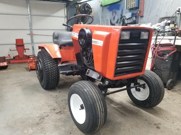 9) 220 Case Garden Tractor