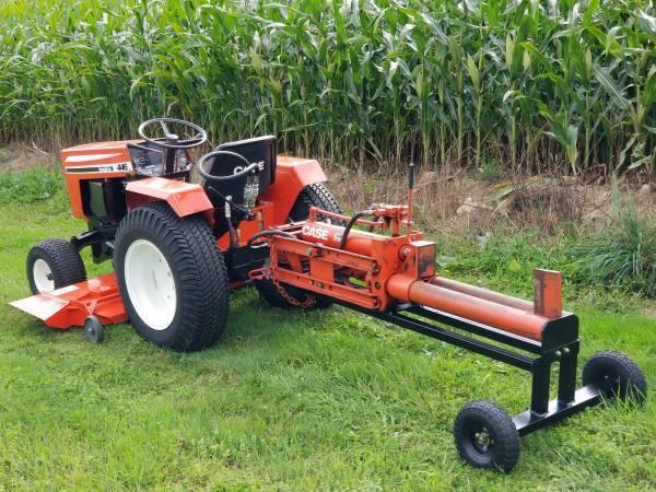 8) Case Garden Tractor Log Splitter 2019
