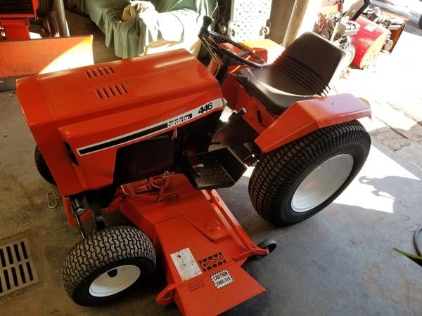 2) 446 Case Garden Tractor