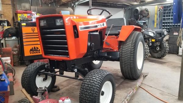 1) 446 Case Garden Tractor Refurb 2021