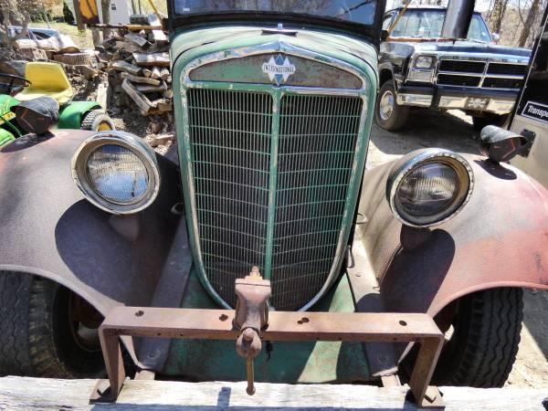 a) 1935 International C-30 Dump Truck