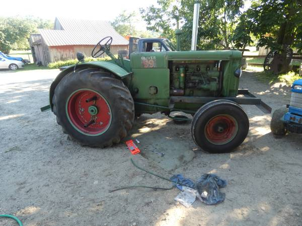 2) 1938 Oliver 99 Tractor