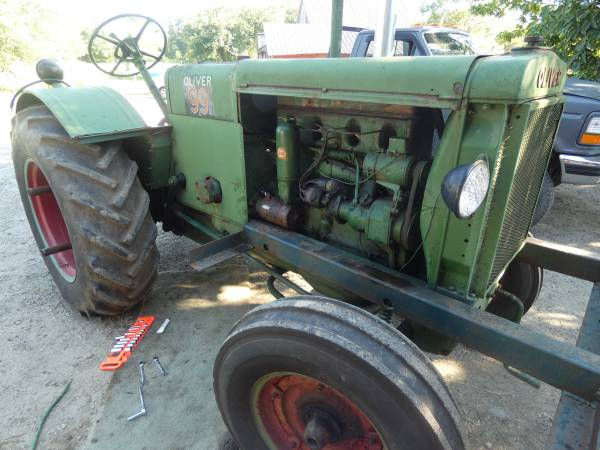 3) 1938 Oliver 99 Tractor