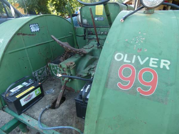 6) 1938 Oliver 99 Tractor