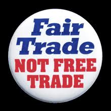 Photo of Fair Trade Not Free Trade Button