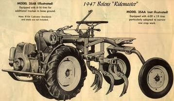 Photo of Bolens 1947 RideMaster Tractor