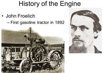 Pic of  John Froelich 1st Gas Tractor