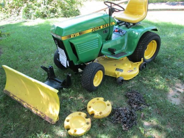 17) John Deere 216 Tractor