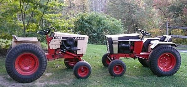 Photo of  Two Case 444 Garden Tractors