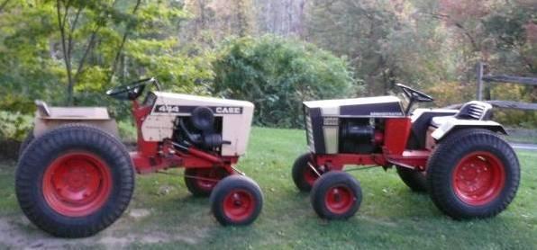 Photo of  Two Case 444 Garden Tractors