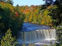Tahquamenon Falls  is the Largest Waterfall in the UP and down the river are Tahquamenon Lower Falls