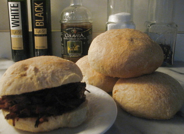 Southern-Style Pulled Pork Sanwiche on Homemade Ciabatta Bun